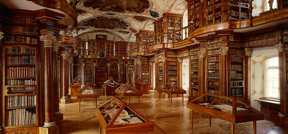 """""""BibliothekSG"""" von Stiftsbibliothek St. Gallen <br /> Übertragen aus de.wikipedia nach Commons. Lizenziert unter CC BY-SA 3.0 über Wikimedia Commons"""