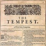 Shakespeare, The Tempest, Titlepage, First Folio